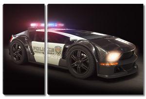 футуристический современных полицейских автомобилей крейсер