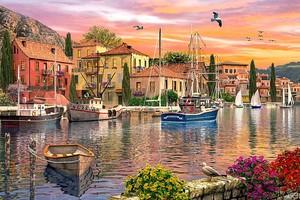Лодки Италия закат