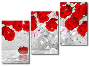 Бутоны роз над водой