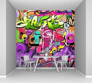 Стена с ярким граффити