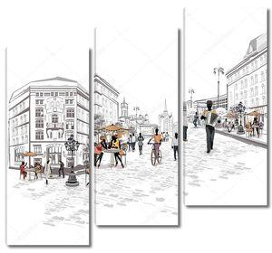 Городской арт пейзаж
