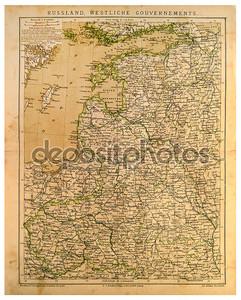 Старая карта западных губерний России