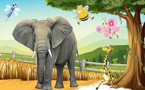 Насекомые пляшут над слоном