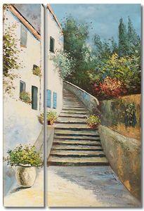 Лестница ведущая в красивый дом
