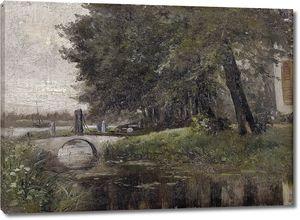 Аэс Карлос де. Пейзаж в Неймегене (Нидерланды)