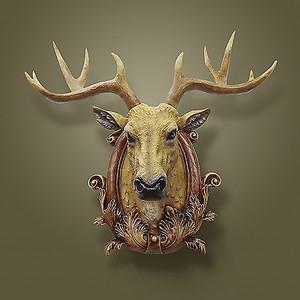 Настенная голова оленя