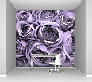 Винтажные розы фиолетовый узор