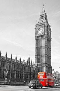 Биг-Бен красный автобус