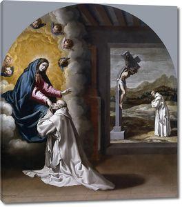 Кардучо Висенте. Видение Девы Марии Хуану Форту