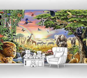 Африканские животные на водопое