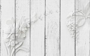 Цветы из белого гипса