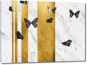 Бабочки на сером мраморе