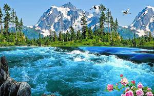 Вид на реку и горы