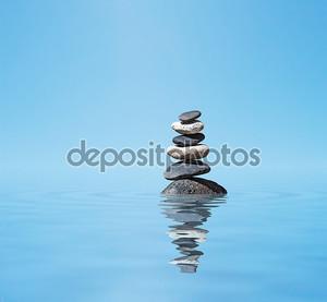 дзэн уравновесила каменный стек