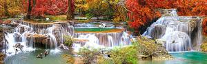 Яркая осень на водопадах