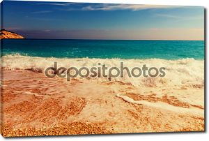 Миртос пляж на острове Кефалония