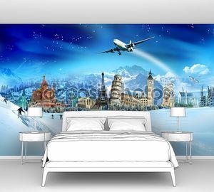 путешествия - зимние каникулы, памятники мира и горы