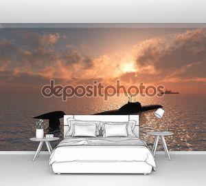 Подводная лодка в море