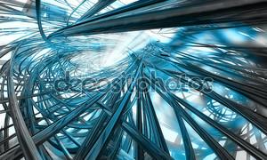 футуристический 3D абстрактный фон