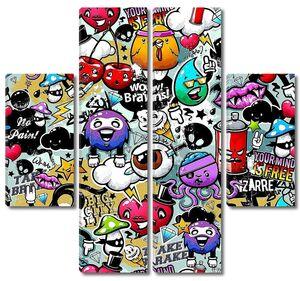 Graffiti seamless texture