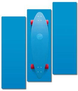 Ярко-голубой скейт