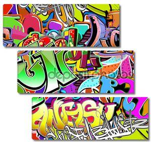 Graffiti wall. Urban art vector background. Seamless hip hop tex