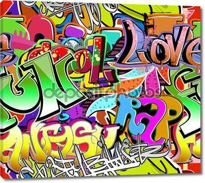 Надписи на стене граффити