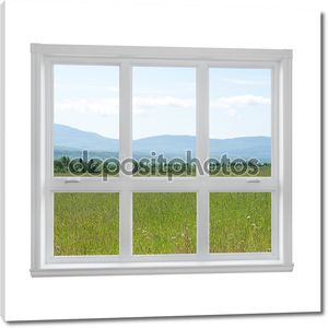 Летний пейзаж, видели через окно