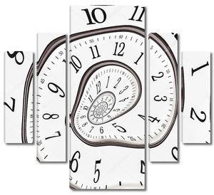 Абстрактные часы до бесконечности