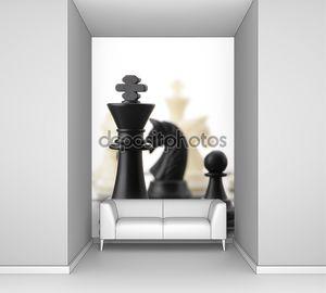 Черный шахматный король