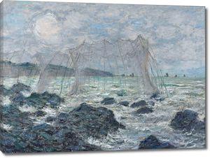 Клод Моне. Рыбацкие сети в Пурвилле