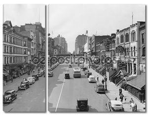 Cityscape э. 86-я стрит в 1930-х годов Нью-Йорке