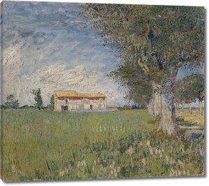 Ван Гог. Сельский дом на пшеничном поле