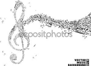 Скрипичный ключ из нот