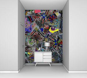Абстракция с узорами в темных цветах