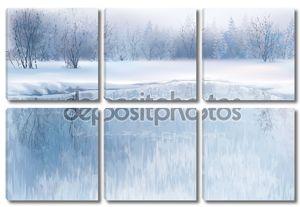 Зимняя сцена с реки
