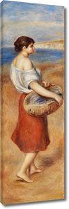 Пьер Огюст Ренуар. Девушка с корзиной рыб