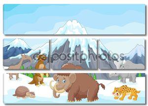 Мультфильм животных ледникового периода сбора