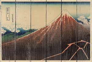 Кацусика Хокусай. Ливень (молния) ниже вершины