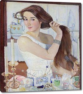 Зинаида Серебрякова. За туалетом. Автопортрет