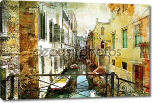 Живописные венецианские улицы - работа в живописи стиль