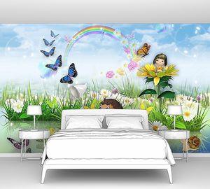 Бабочки и радуга