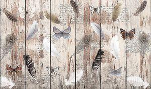 Бабочки с перьями