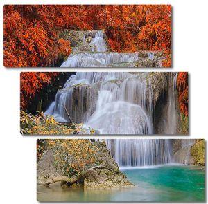 Водопад в осеннюю пору