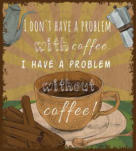 Плакат ретро кофе Кубок