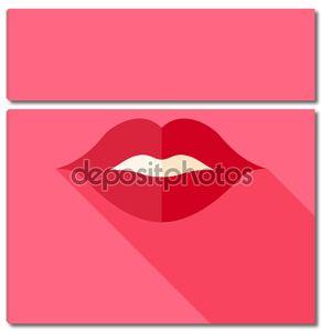 Vector Flat Design сексуальный поцелуй