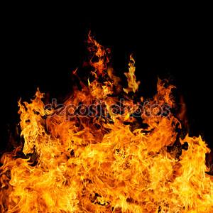 Совершенный пожар на черном фоне