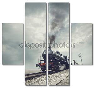 черный поезд