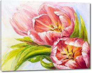 Рисунок трех тюльпанов
