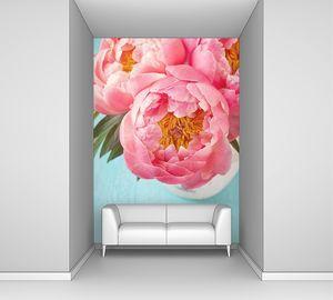 Пионы розовые распустились